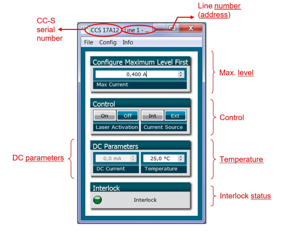 Laser diode driver GUI interface