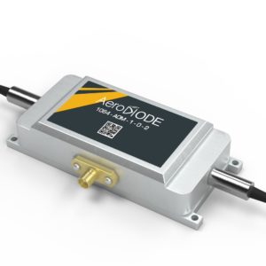 Fiber coupled AOM with a fiber on both sides